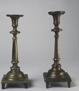 <p>Shabbat candlesticks of the Shapiro family</p><p>Russia, ca. 1887</p><p>Brass</p><p>National Museum of American Jewish History, 1998.3.1</p><p>Gift of Lorna Siegler Miller and Miranda Miller in memory of Esther Shatz, Irene Asbell, and</p><p>Gertrude Miller, granddaughters of Shlomo and Gittel Shapiro</p><br /><span></span>
