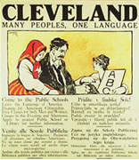 <div>Poster, Many Peoples One Language</div><div>Cleveland Americanization Committee and Board of Education, Cleveland, Ohio, 1917</div><div>National Museum of American Jewish History, 1990.4.42</div><br /><span></span>