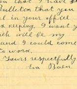 "<p>Letter, Eva Baen to ""John Vanamaker""</p><p>Philadelphia, Pennsylvania, March 14, 1917</p><p>National Museum of American Jewish History, 1995.36.14</p><p>Gift of Clara K. Braslow in memory of her parents</p><div></div><br /><span></span>"