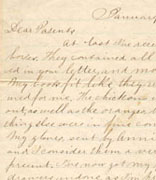 <p>Letter, Samuel Levy to his parents,</p><p>Deep Bottom, Virginia, January 24, 1865</p><p>National Museum of American Jewish History, 1989.29.2</p><br /><span></span>