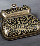 <p> </p><p>Purse made by Rose Dubarsarsky Fox</p><p>Tarasapol, Russia</p><p>Satin and cotton cloth</p><p>National Museum of American Jewish History, 2006.6.99</p><p>Gift of Balch Museum Collection, The Historical Society of Pennsylvania</p><div></div><p> </p><div></div><br /><span></span>