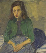 <p>Raphael Soyer, 1953</p><p>Oil on canvas</p><p>National Museum of American Jewish History, 2006.5.1 a</p><br /><span></span>