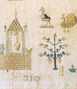 <p>Embroidered linen</p><p>National Museum of American Jewish History, 1979.15.1</p><br /><span></span>