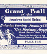 <p>Grand Ball of the Downtown Zionist District, New York, New York, January 1, 1927</p><p>National Museum of American Jewish History, 1985.48.11</p><br /><span></span>
