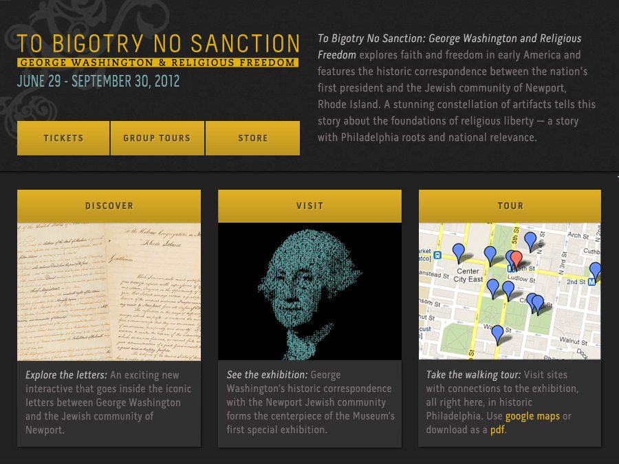 To Bigotry No Sanction Landing Page
